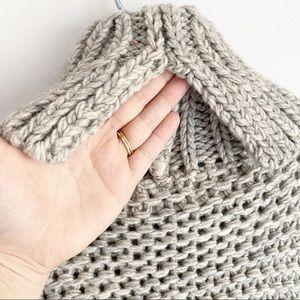 Lush Sweaters - Lush Chunky Oversized Cowl Neck Wool Blend Sweater